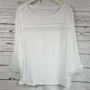 Gap   T-Shirt Long Sleeve Write Color Size Large